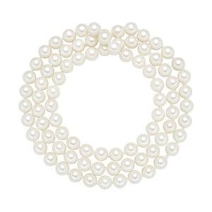 Naszyjnik z białych pereł ⌀ 8 mm Perldesse Muschel, długość 80 cm