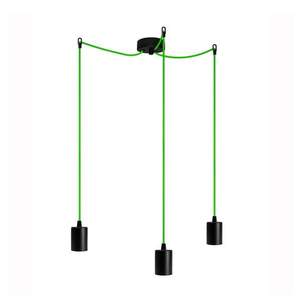 Trzy wiszące kable Cero, zielony/czarny