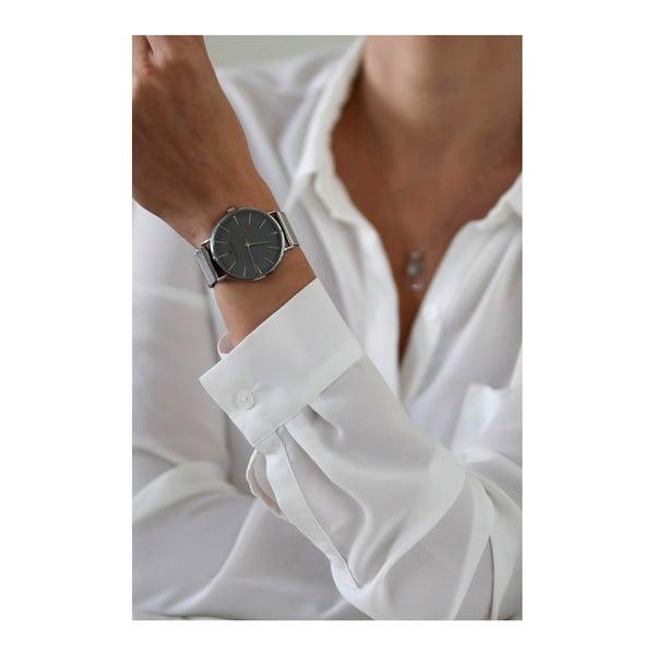 Zegarek z paskiem ze stali nierdzewnej w barwie srebra Frederic Graff Silver Eiger Silver Mesh