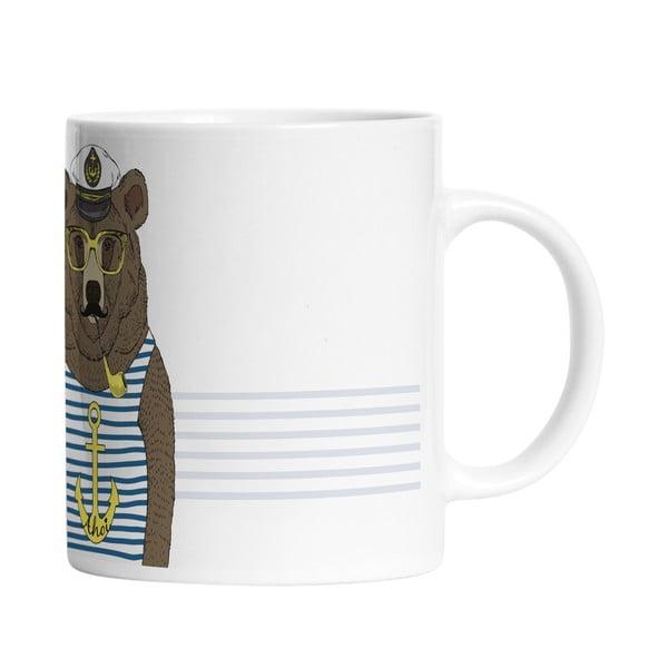 Ceramiczny kubek Bear Sailor, 330 ml