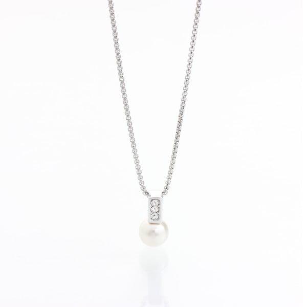 Naszyjnik z kryształami Swarovski Elements Laura Bruni Pearl