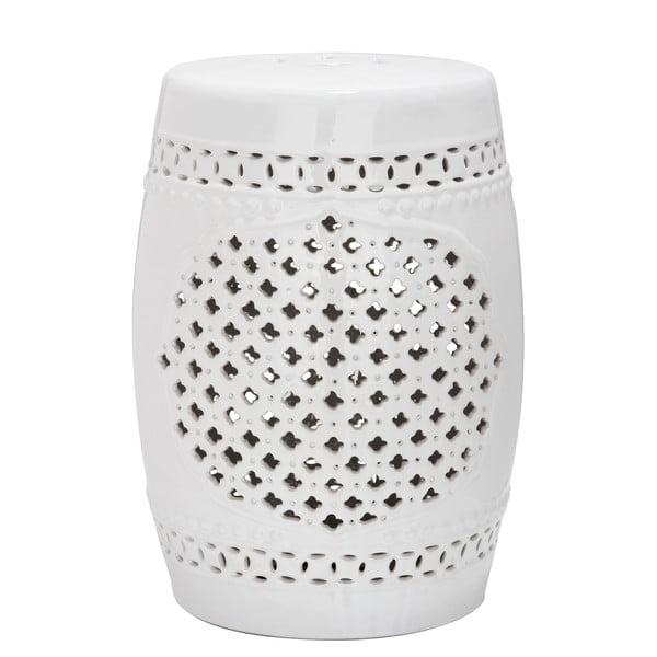 Biały stolik ceramiczny Safavieh Marbella