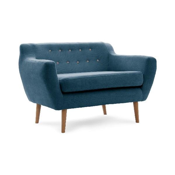 Sofa dwuosobowa VIVONITA Kelly Marine Blue, naturalne nogi