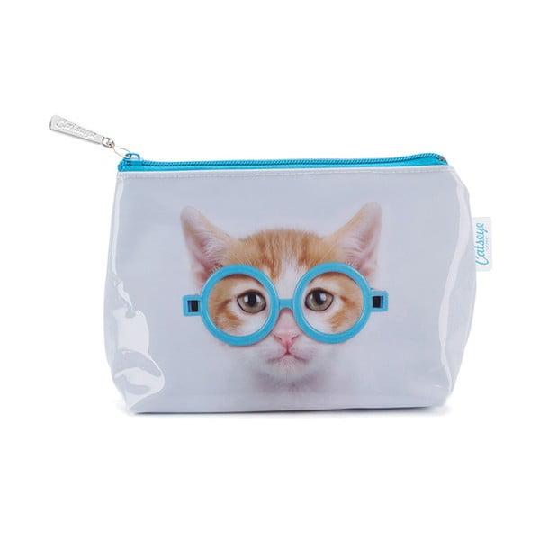 Mała kosmetyczka Glasses Cat