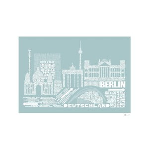 Plakat Berlin Blue&White, 50x70 cm