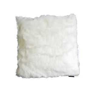 Kosmata poduszka Fury, biała