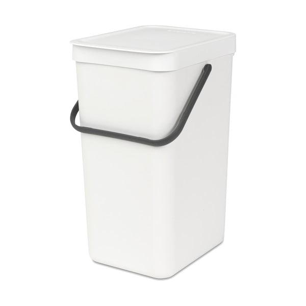 Kosz Sort & Go 16 l, biały