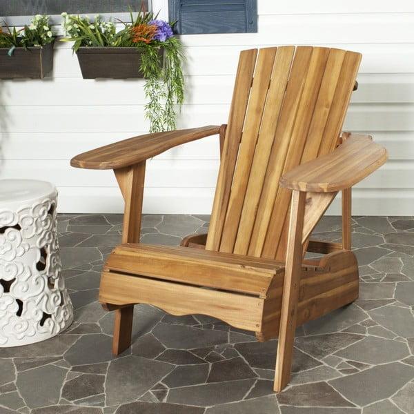 Drewniany fotel ogrodowy Safavieh Mopani Natural
