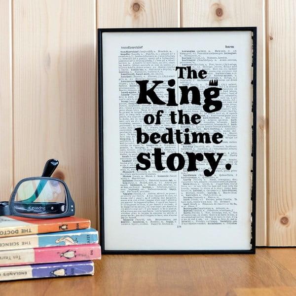 Plakat w   drewnianej ramie King of the Bedtime Story