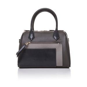 Skórzana torebka do ręki Marta Ponti Classy, szara/beżowa