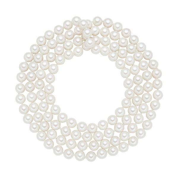 Naszyjnik z białych pereł ⌀ 8 mm Perldesse Muschel, długość 120 cm