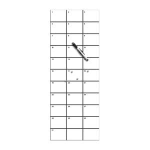 Tablica magnetyczna do pisania z markerem i 4 magnesami Eurographics My Month