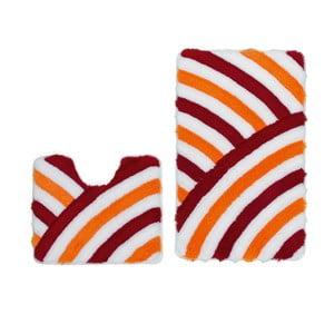 Zestaw 2 dywaników łazienkowych z wcięciem Lobby Red