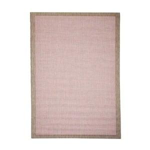 Różowy wytrzymały dywan Webtapetti Chrome, 135 x 190 cm