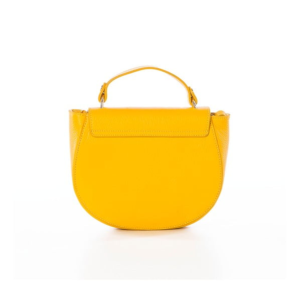 Żółta torebka skórzana Federica Bassi Virgin