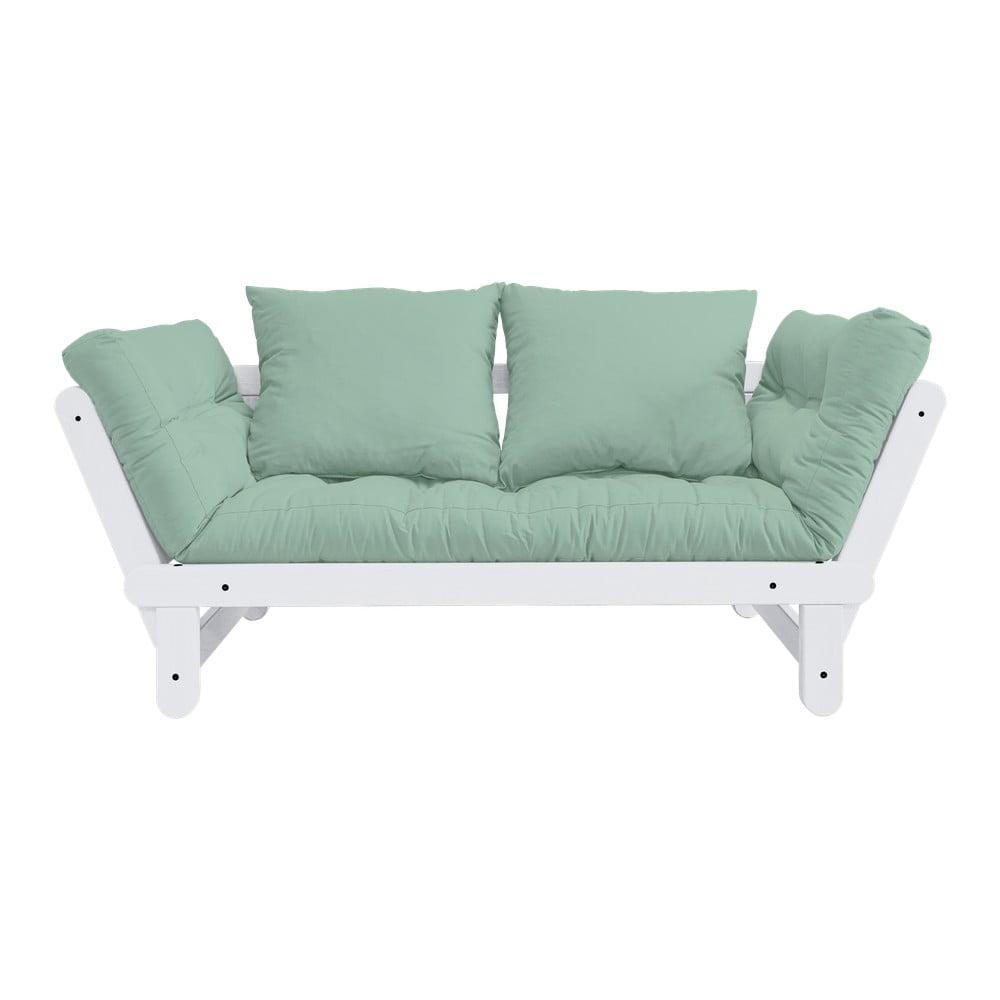 Sofa rozkładana Karup Design Beat White/Mint