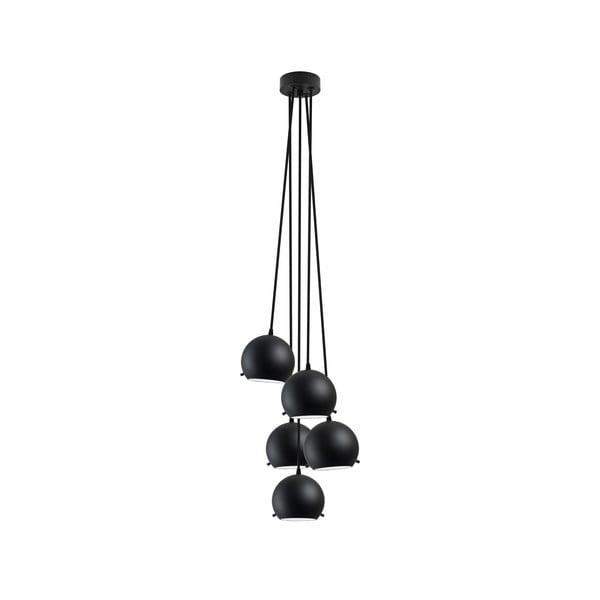 Czarna matowa pięcioczęściowa lampa wisząca Sotto Luce MYOO Elementary 5BS