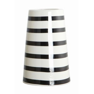 Wazon Black/White Stripes
