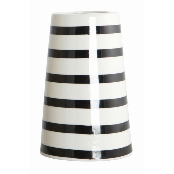 Wazon Black/White Stripes