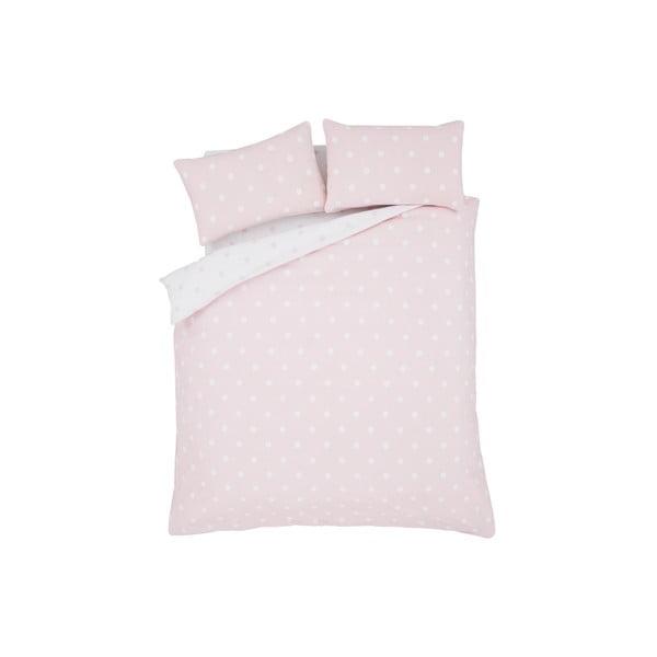 Pościel Brushed Polka Pink, 200x200 cm