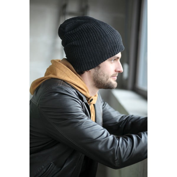 Antracytowa czapka ochronna Ribcap Lenny, S