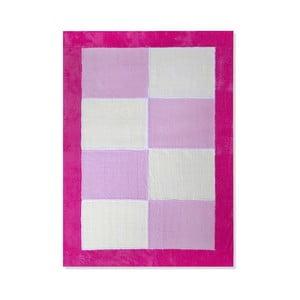 Dywan dziecięcy Mavis Pink Squares, 100x150 cm