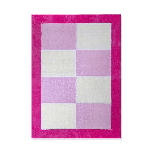 Dywan dziecięcy Mavis Pink Checks, 120x180 cm