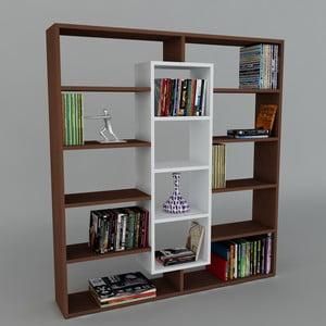 Biblioteczka Ample Wenge/White, 22x125x135,7 cm