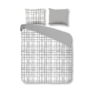 Pościel Check Grey, 140x200 cm
