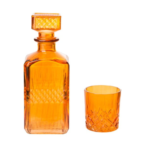 Dekanter z 6 szklankami Orange, 850 ml
