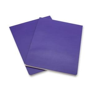 Zestaw 2 fioletowych bloków Moleskine Volant