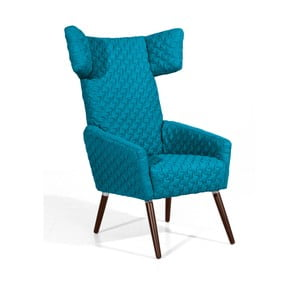 Niebieski fotel Max Winzer Elina