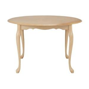 Kremowy stół do jadalni z drewna kauczukowca Støraa Charles, Ø120cm