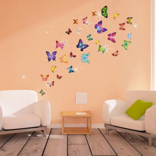 Naklejka Motyle z elementami Swarovski
