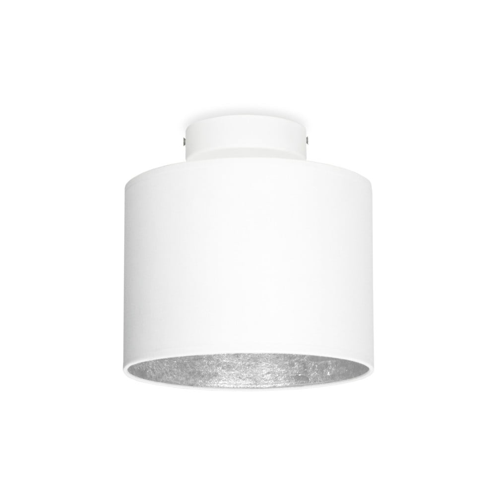 Biała lampa sufitowa z detalem w kolorze srebra Sotto Luce MIKA Elementary XS CP