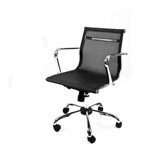 Krzesło biurowe na kółkach Leila, czarne