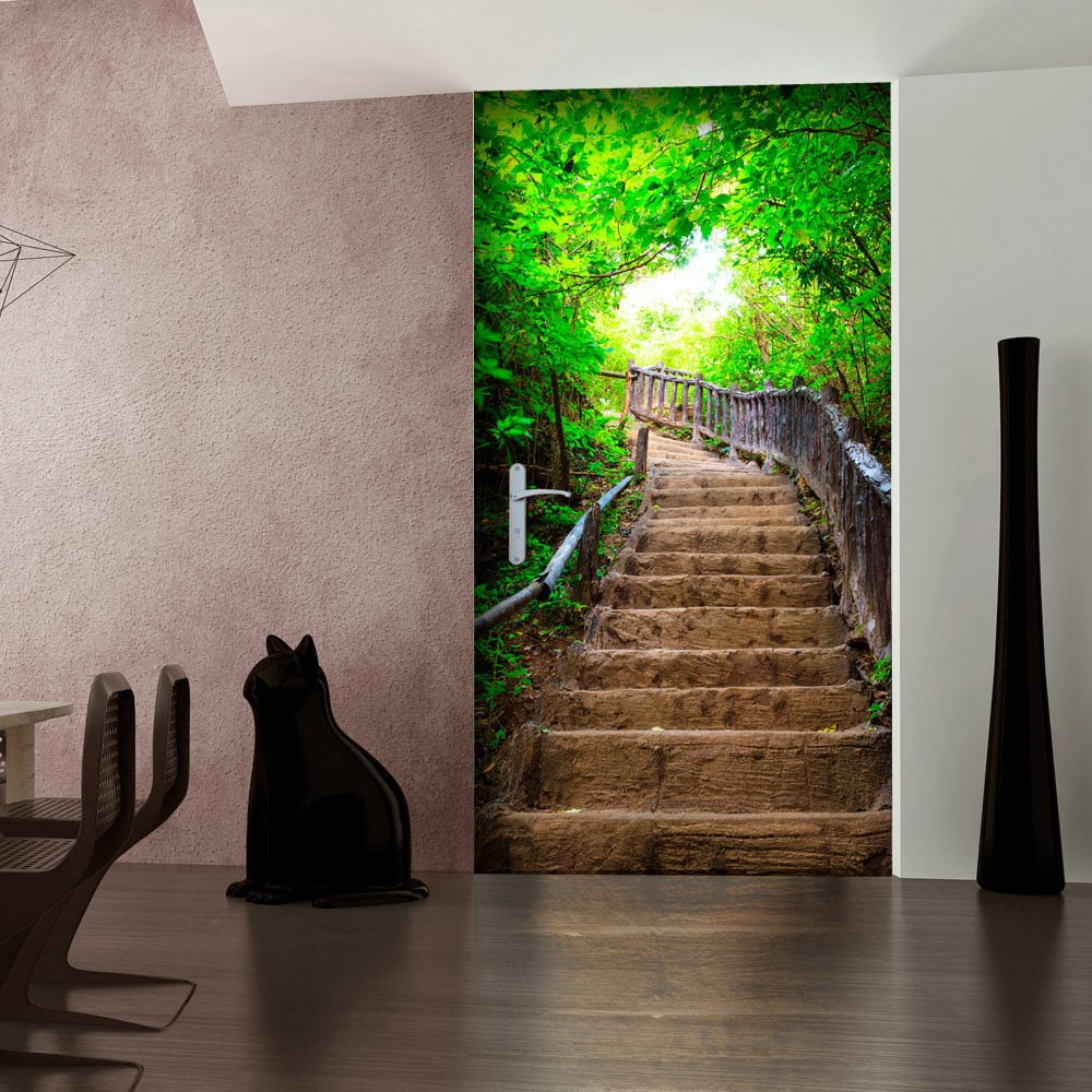 fototapeta na drzwi bimago stairs from nature 80x210 cm bonami. Black Bedroom Furniture Sets. Home Design Ideas