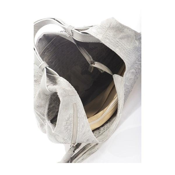 Szara torebka skórzana Massimo Castelli Jamilyn