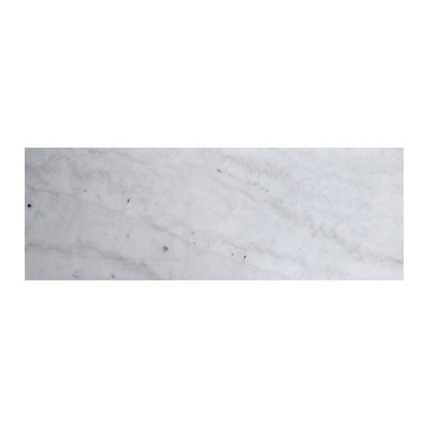Biała konsola marmurowa z dębowymi nogami RGE Accent, szer.100cm
