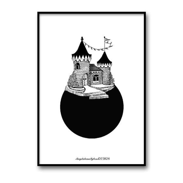 Plakat autorski Slottsplaneten, 30x40 cm