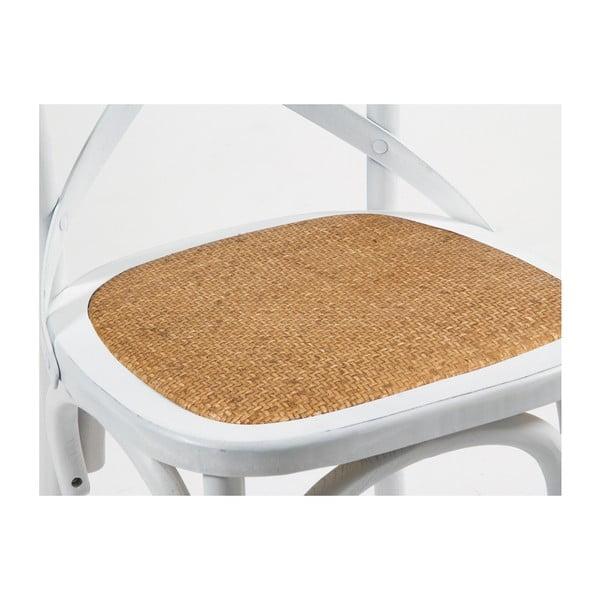 Białe krzesło z drewna wiązu Santiago Pons Iago