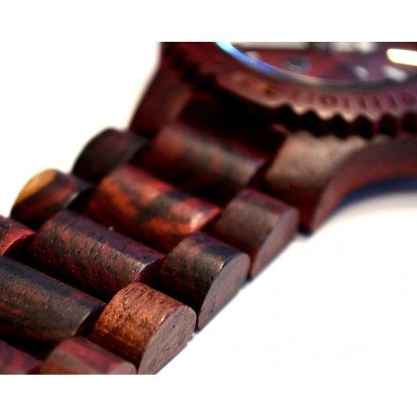 Drewniany zegarek Date Brown