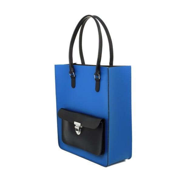 Skórzana torebka Taylor Royal Blue/Black