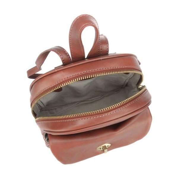 Skórzany plecak Eliza Cognac Small