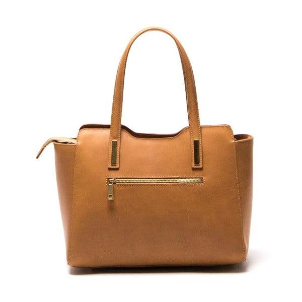 Skórzana torebka Luisa Vannini 3007 Cognac