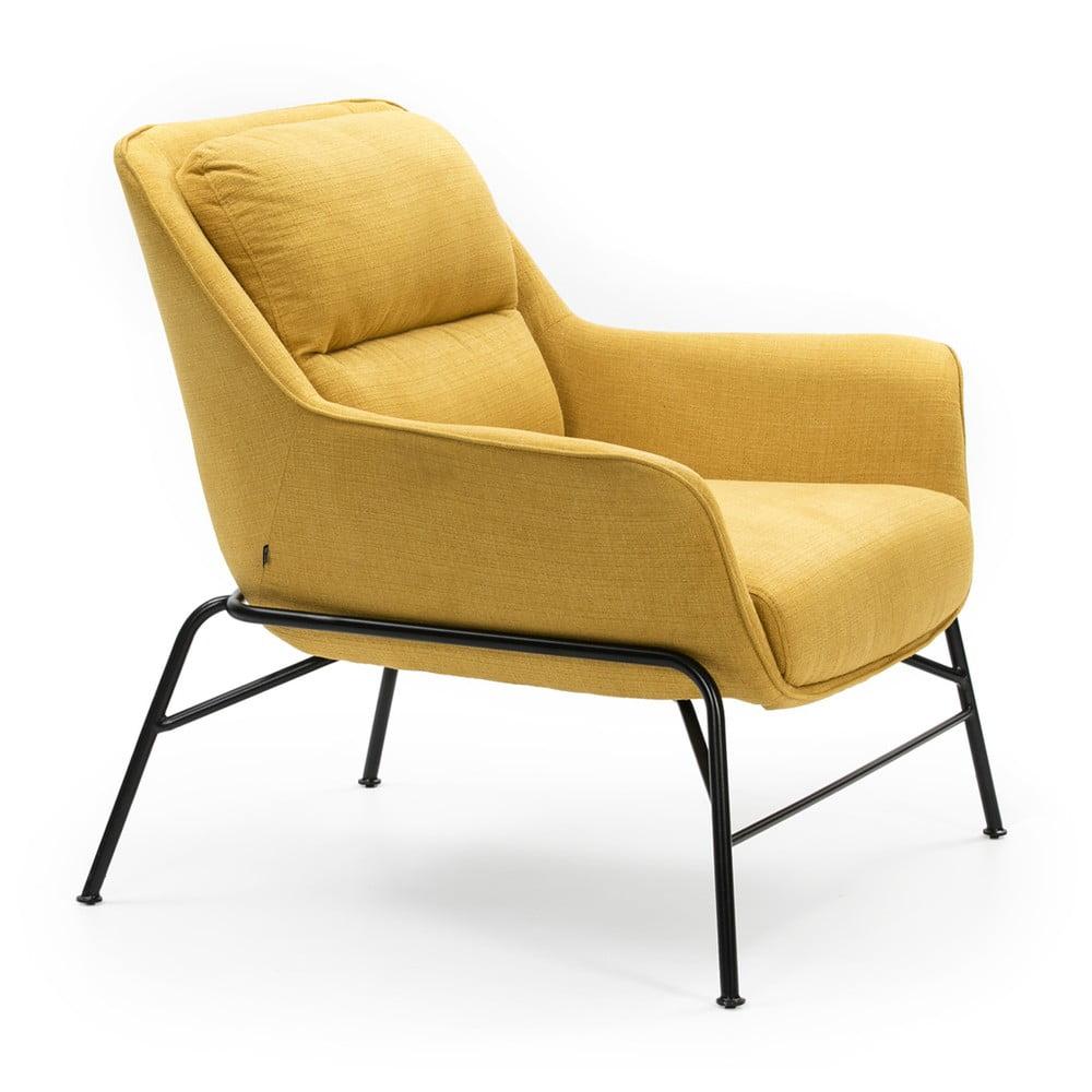Żółty fotel Teulat Sadira