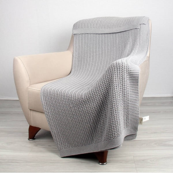 Koc Clen Light Grey, 130x170 cm