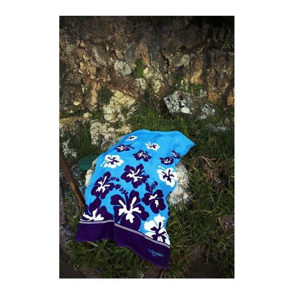 Ręcznik Blue Flowers, 75x150 cm