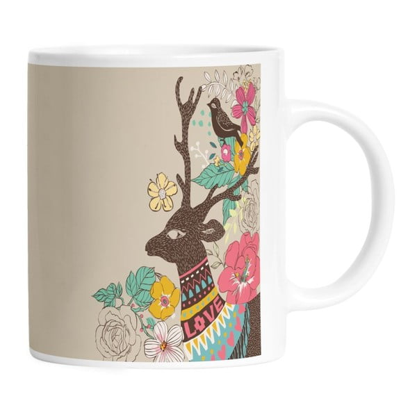 Ceramiczny kubek Well Dressed Deer, 330 ml