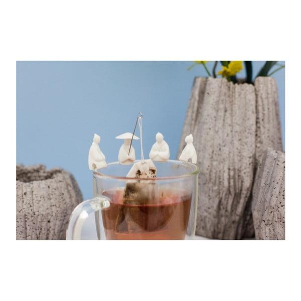 Komplet 4 uchwytów do torebek herbaty Kikkerland Fisherman